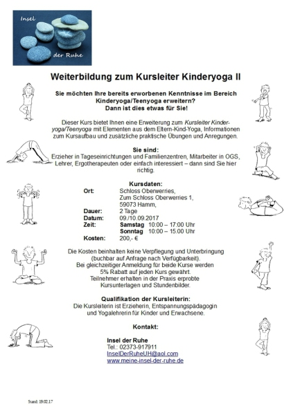 Weiterbildung Kursleiter Kinderyoga II